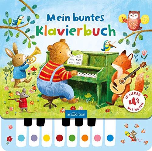 Mein buntes Klavierbuch: Lieblingslieder zum Selberspielen, interaktives Sound-Buch für Kinder ab 3 Jahren