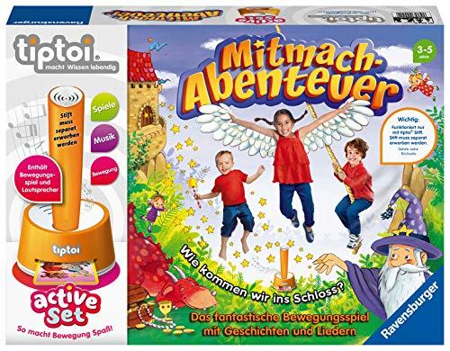Ravensburger tiptoi 00044 active Set Mitmach-Abenteuer, Kinderspiel ab 3 Jahren, Bewegungsspiel mit...
