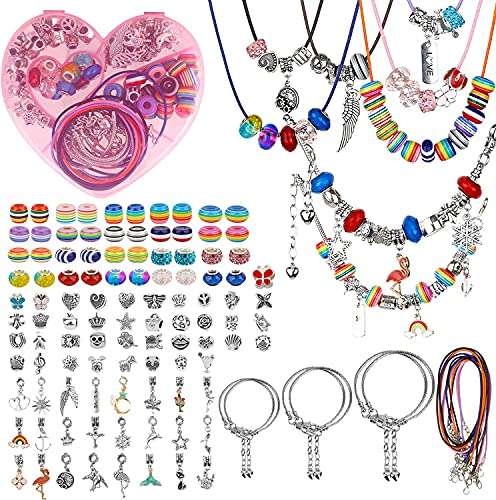 Kommunion Geschenke für Mädchen - 117 Stucks Charm Armband Making Kit DIY Geschenke für Mädchen Teens...