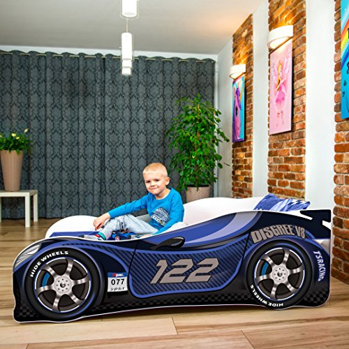 Nobiko Autobett Kinderbett Bett Schlafzimmer Kindermöbel Spielbett 140 X 70 cm 160 x 80 cm 180 X 80 cm...