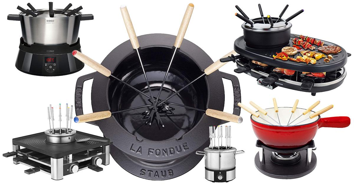 Fondue Set mit Pastenbrenner für Brennpaste Fonduegabeln für 6 Personen