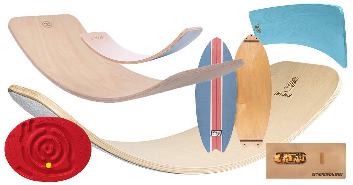 Balance-Board Wackelbrett aus Holz Balancekissen PhysioTherapie Kreisel-Training