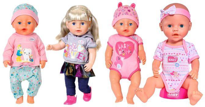 Baby Born Puppen mit Zubehör