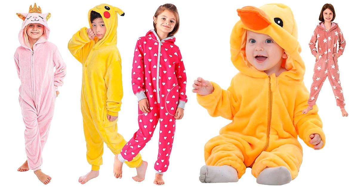 Kleinkind Baby Jungen Mädchen Strampler Overall Kapuze Schlafanzug Einteiler Neu
