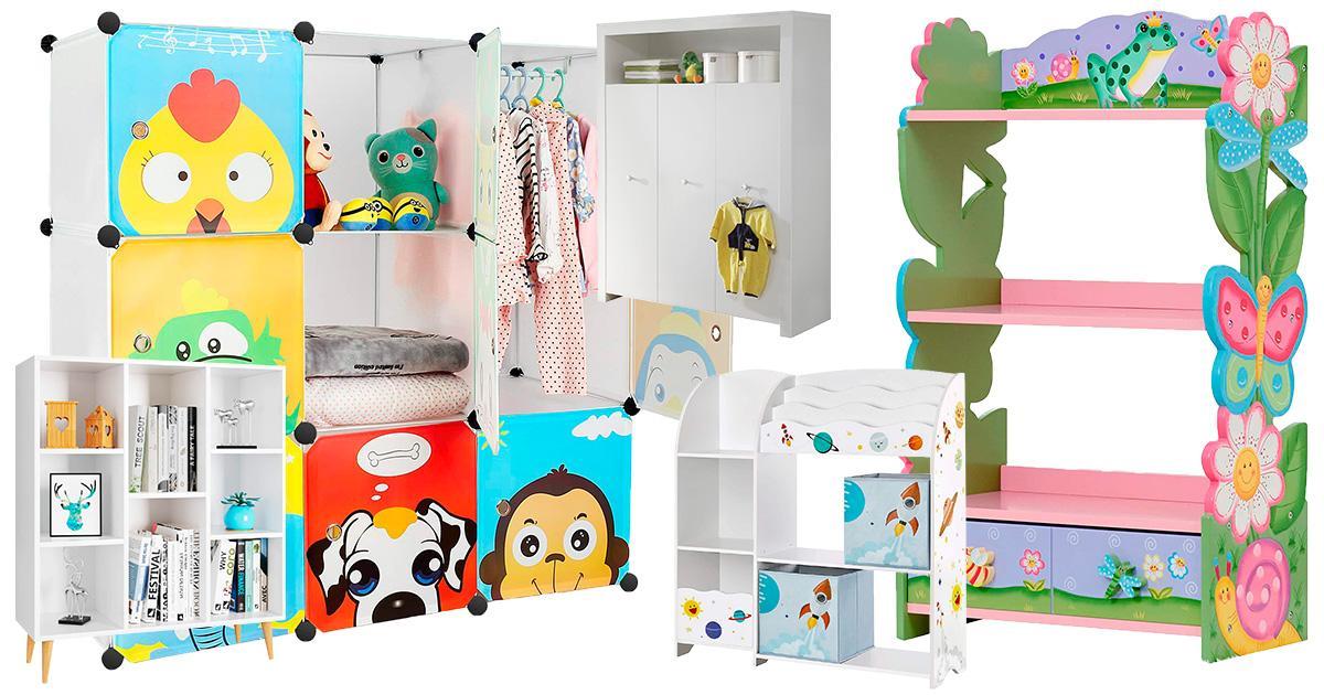 Tiermotive Kleiderschrank Wäscheschrank Standregal Steckregal Kinderzimmer