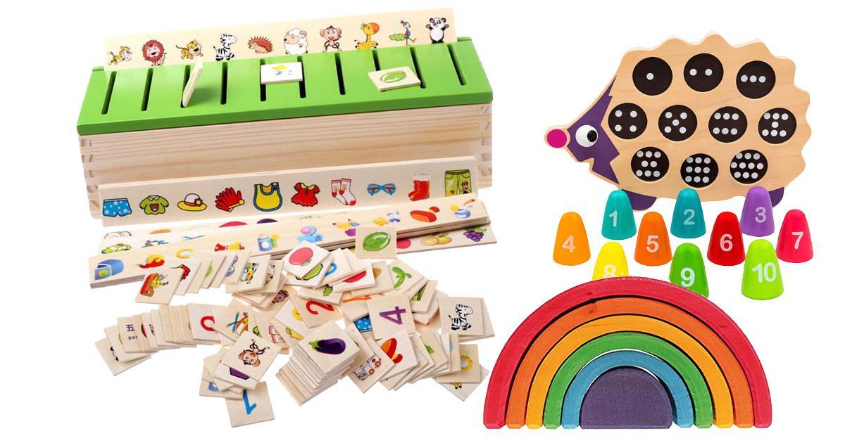 Lernspielzeug aus Holz