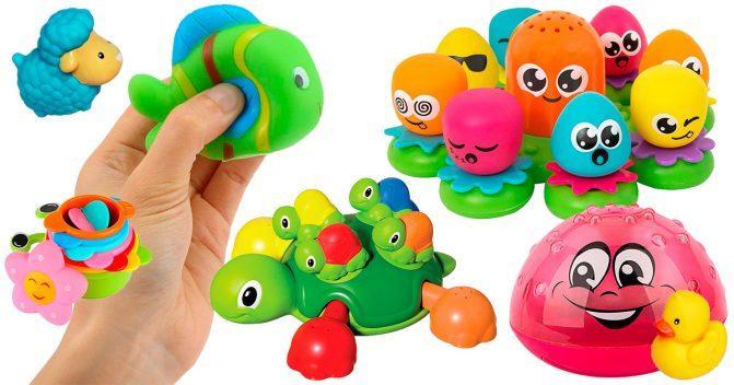 Babyspielsachen für die Badewanne