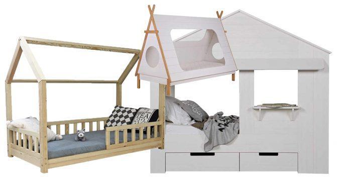 Haus-Kinderbetten
