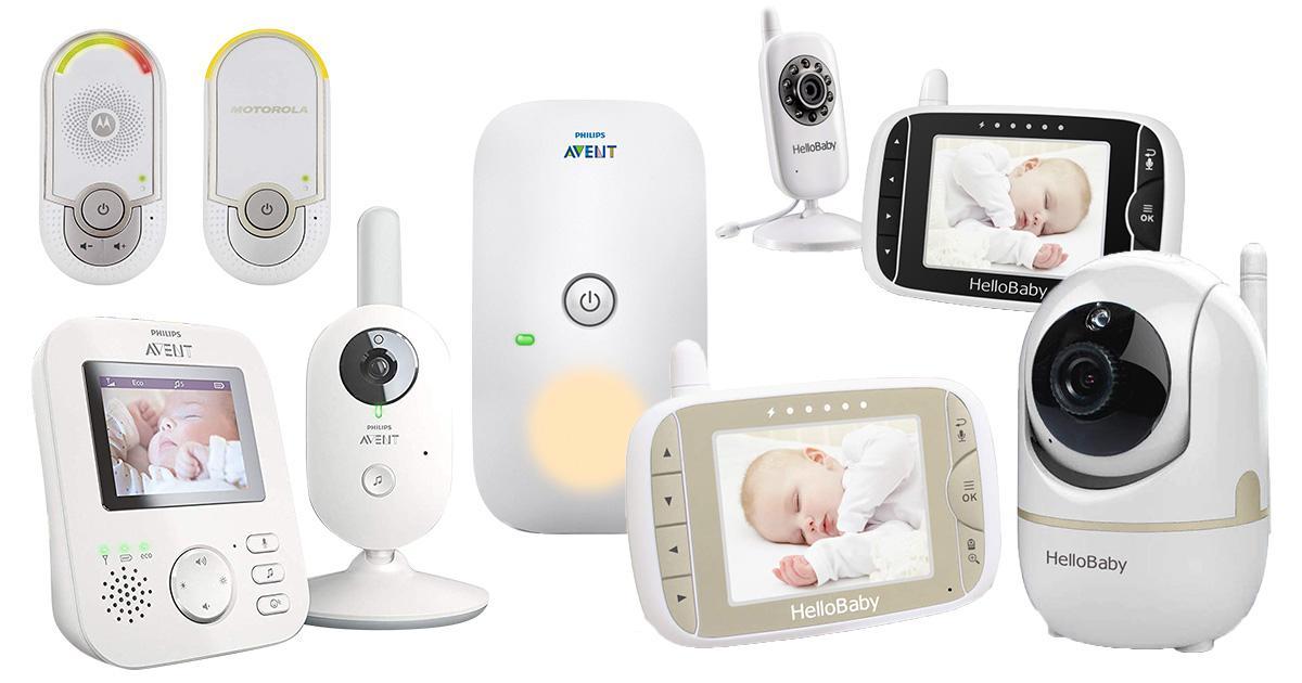 Baby Video Audio Monitor Drahtlos Babyphone mit Kamera Nachtlicht Temp.Überwach.
