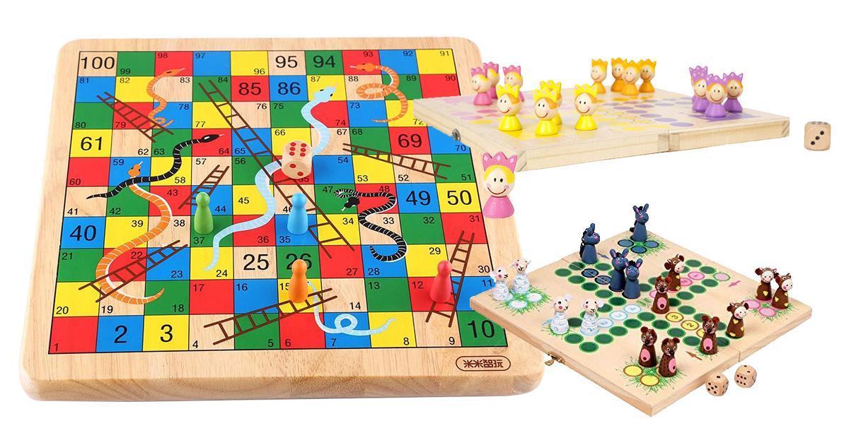 Kinder-Brettspiele aus Holz