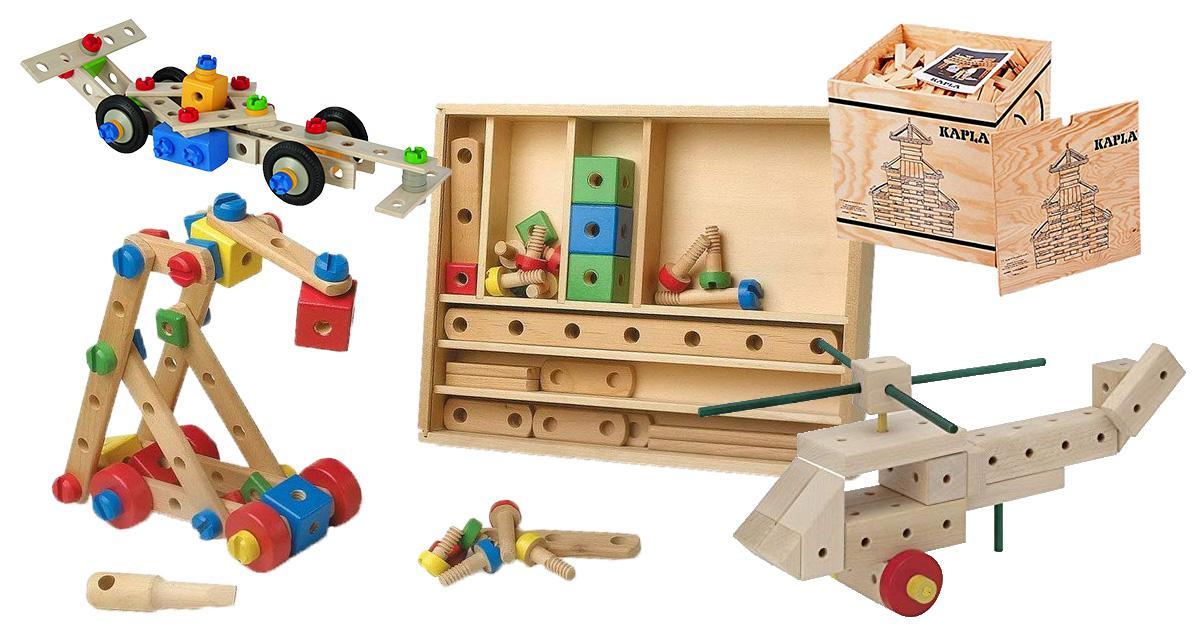 Konstruktionsspielzeug aus Holz