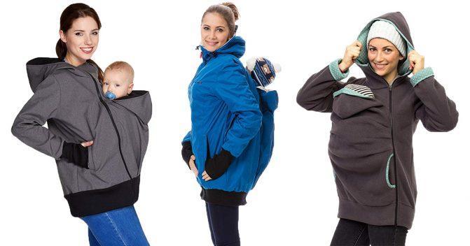 Baby-Tragejacken für Mütter